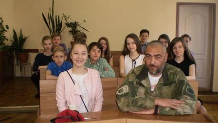 Зустріч учнів з учасником АТО